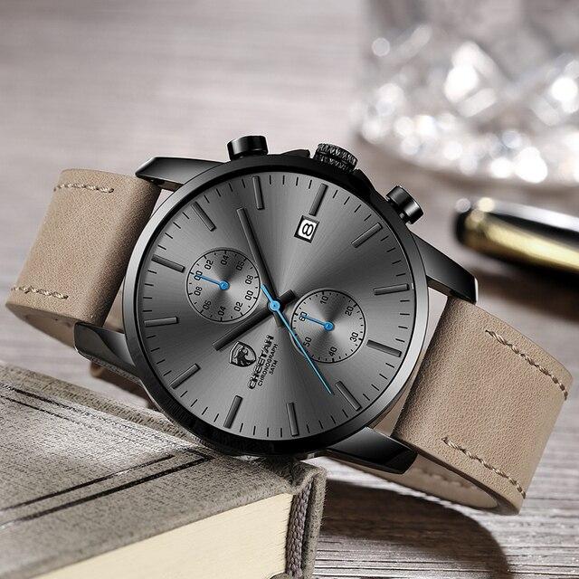 CHEETAH Mens Watches Top Brand Luxury Men Military Fashion Sport Wristwatch Leather Quartz Watch erkek saat Relogio Masculino 1