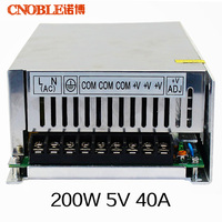 200W 5V 40A 220V input Single Output Switching power supply for LED Strip light AC to DC Free shipping