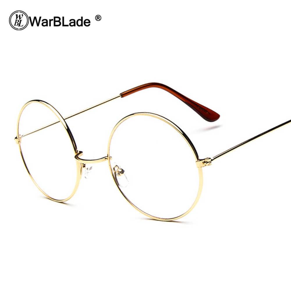 614dc1df995 Warblade cheap big round nerd glasses clear lens unisex gold round metal  frame glasses frame optical