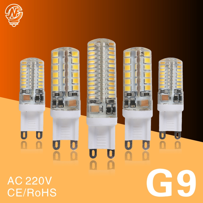 <font><b>G9</b></font> <font><b>LED</b></font> Lamp 7W 9W 10W 11W Corn Bulb AC 220V SMD 2835 3014 48 64 96 104Leds Lampada <font><b>LED</b></font> <font><b>light</b></font> 360 degrees Replace Halogen Lamp image
