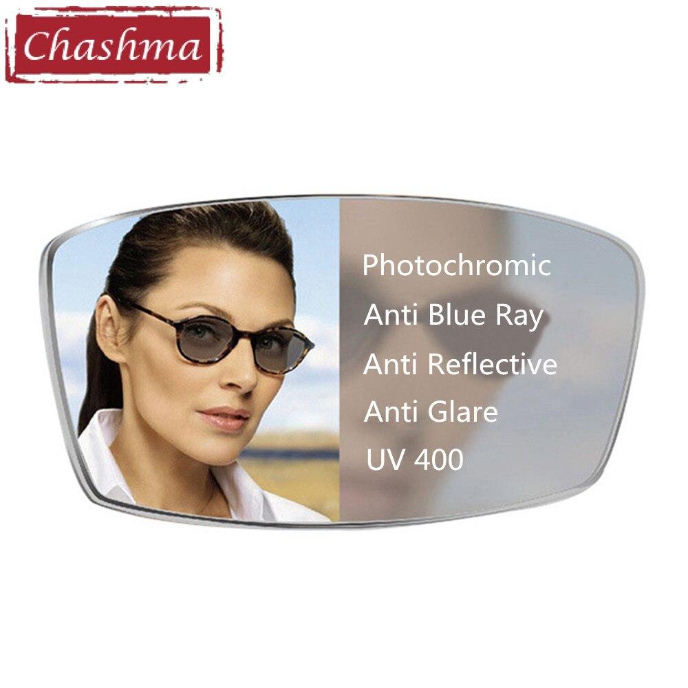 Obiettivo di occhio Fotocromatiche Anti Blu Ray lentes hombre Nero Lenti per Gli Occhi Prescrizione 1.56 indice di 1.61 Sottile 1.67 Gradi di Vetro