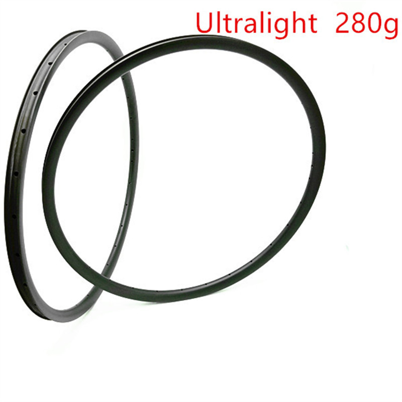 29er Carbon Mtb Disc Rims 280g Ultralight Rims XC 27x25mm Tubeless Bicycle Rim Mountain Bike Wheel Disc Mtb Bike Rim