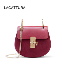 LACATTURA Hot Sale Famous Brand Design Women Handbag High Quality Genuine  Cowhide Leather Cloe Bag Small f92ea644258b5