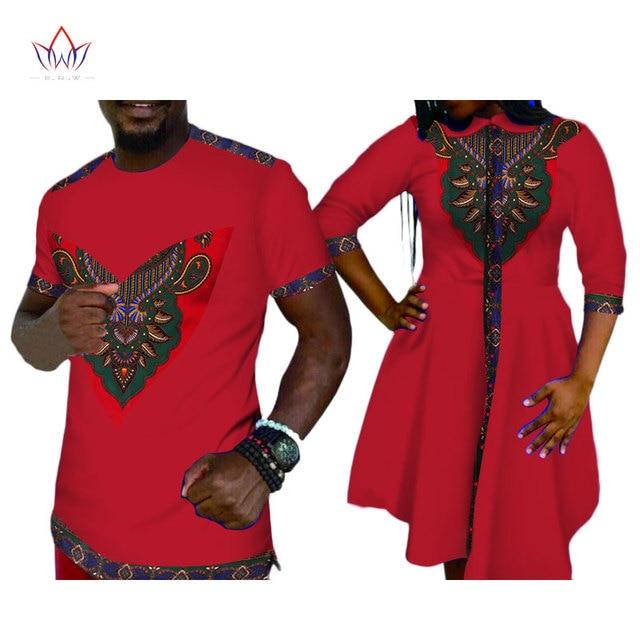 65c2dbac3aa 2019 été Promotion fête robes courtes femmes afrique vêtements hommes  chemise famille vêtements correspondant Couple impression