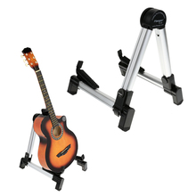 Aluminum Alloy Universal A-frame Guitar Stand Holder Bracket Mount Foldable Stand for Acoustic Electric Guitars Ukulele Bass