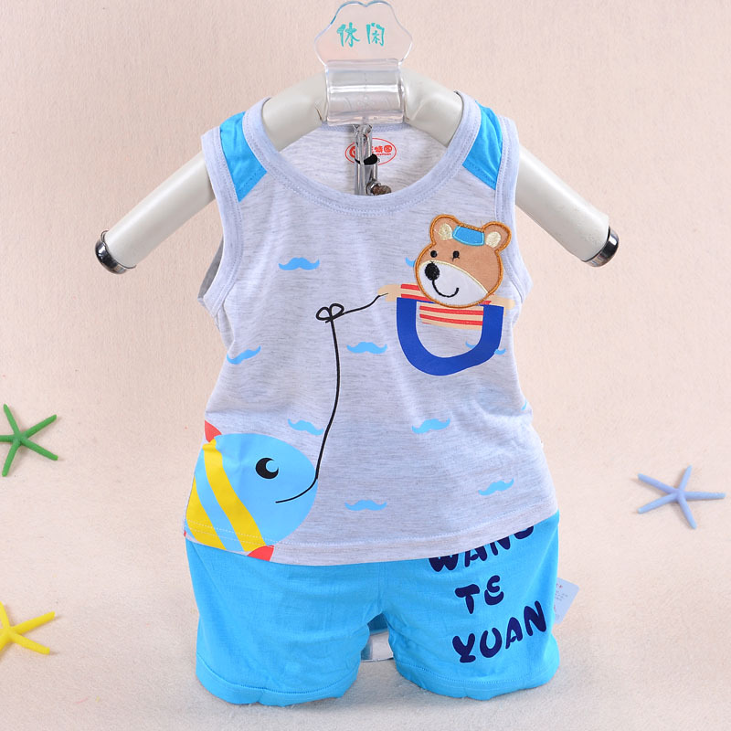 f4c13e8819976 2015 hot summer style boy baby dress 3 months 2 years old baby clothing  Bamboo fiber Boy shorts vest jacket baby clothing set-in Clothing Sets from  Mother ...