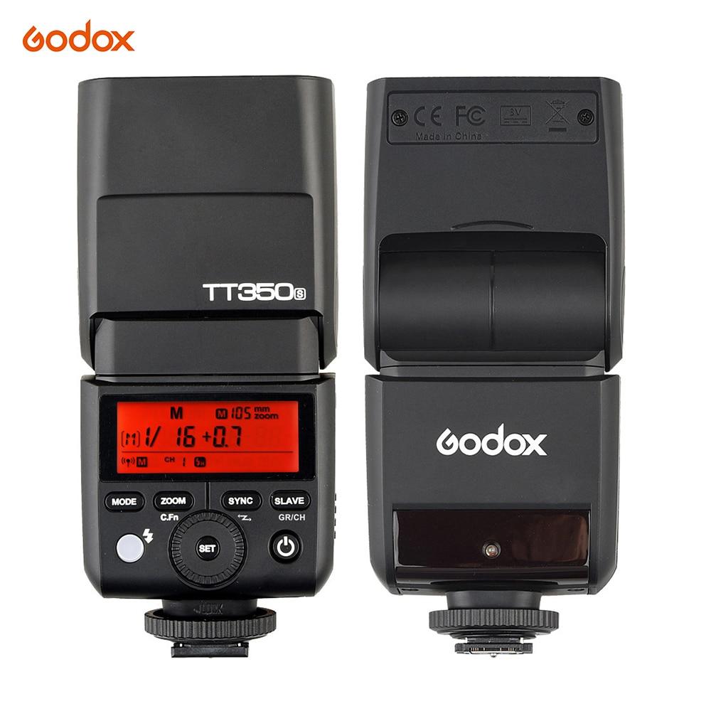 Godox TT350S 2.4G Wireless 1/8000S HSS Speedlight TTL Master& Slave Camera Flash Speedlite for Sony A77II A7RII A7R A58 A99 RX10 godox tt350s hss 1 8000s 2 4g speedlite flash light ttl for sony multi interface shoe camera a58 a99 ilce6000l a77ii a7rii a7r