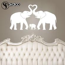Elephant Family Love Removable Vinyl Wall Decal Sticker Nursery Kids Baby Room Stickers 54x100cm