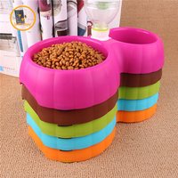 Pet Dog Cat Drinking Fountain Food Automatic Water Dish Pet Dispenser Dual Port Dog Automatic Water