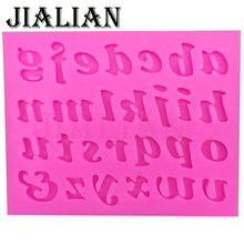 3PC/set number 0-9 letters silica gel mould cake decorating tools DIY silicone mold Clay Resin sugar Candy Fimo Sculpey T0182