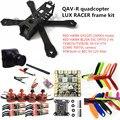 DIY quadcopter FPV мини drone QAV-R LUX RACER 4x2x2 кадр комплект РЕД ХОК DX2205 + RED HAWK BL20A ESC + 700TVL КАМЕРЫ + TS5823L/TS5828L
