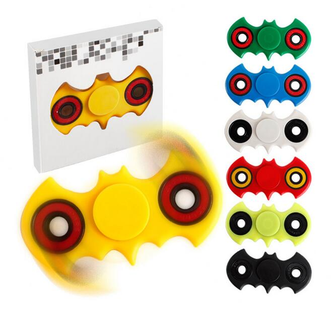 NEW hot batman spinner Tri Spinner Fidget luminous Finger Spinner For Autism ADHD EDC DESK spinner beyblade relax toys Christmas luminous tri fidget hand spinner light in dark edc tri spinner finger toys relieve anxiety autism adhd for child