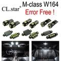 15 pcs livre de Erros Lâmpada LED Interior Luz Kit de Iluminação Da chapa de Licença Para Mercedes W164 Mercedes-Benz classe M ML350 ML63 AMG (06-11)