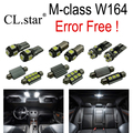15 unids Error Bombilla LED libre de Interior Kit de Luz de la matrícula Para Mercedes Para Mercedes Benz clase M W164 ML63 AMG ML350 (06-11)