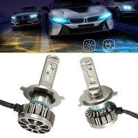 2 x H1 H4 LED Bulbs 80W 16000LM High Power 9005 9006 LED Car Auto Replacement Headlight Fog Bulb Lamp 12V 24V