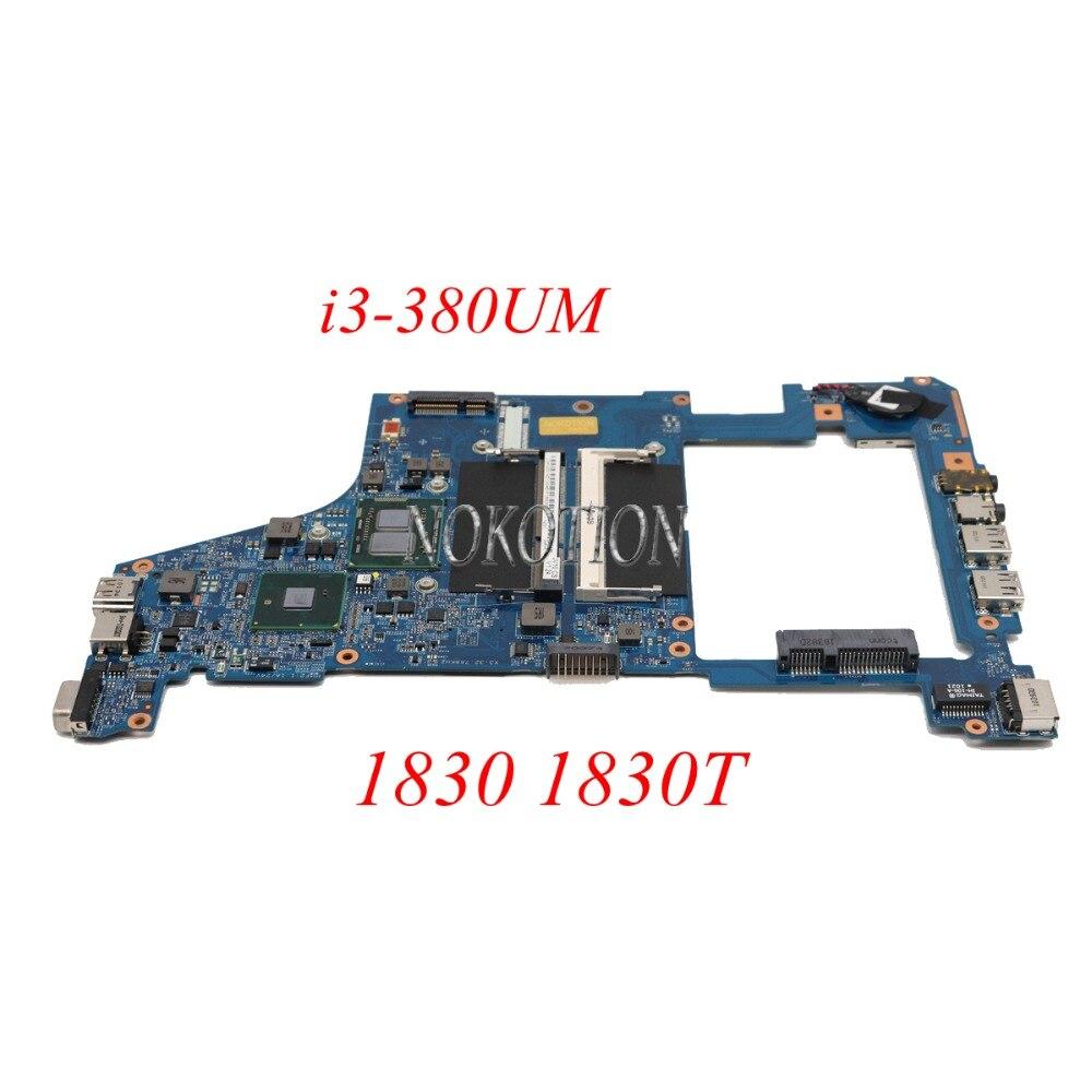 NOKOTION Laptop Motherboard For Acer 1830 1830T MBPTV01006 DDR3 JV10-CS MB 09918-2M 48.4GS01.02M I3-380UM CPU Main boardNOKOTION Laptop Motherboard For Acer 1830 1830T MBPTV01006 DDR3 JV10-CS MB 09918-2M 48.4GS01.02M I3-380UM CPU Main board