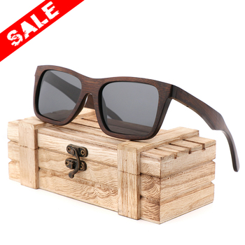 Promotional men bamboo sunglasses polarized Lenses  Handmade Wood Products for Men and Women UV400 Polarized Lenses Gifts