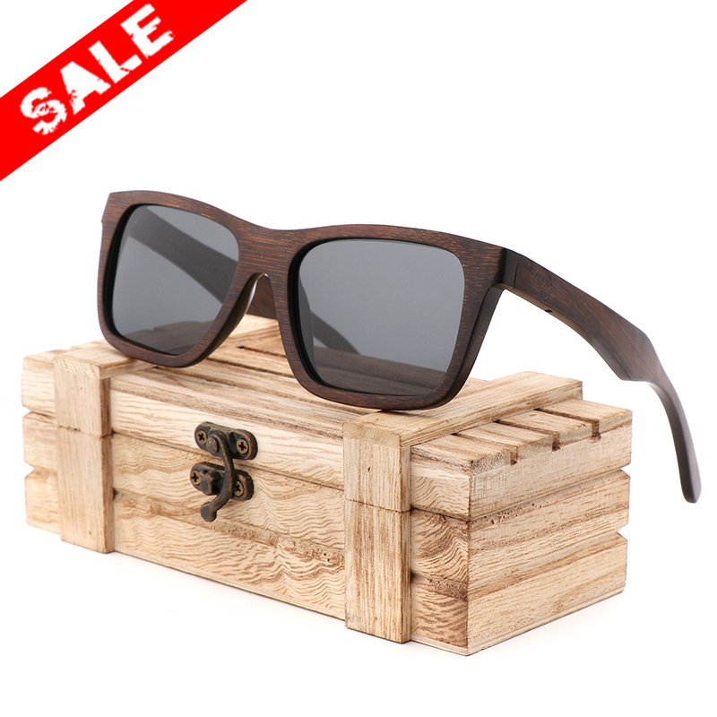 86155e1ef12 AN SWALLOW Promotional Bamboo Sunglasses Polarized Lenses Handmade Wood  Products for Men and Women UV400 Polarized Lenses Gifts-in Sunglasses from  Apparel ...