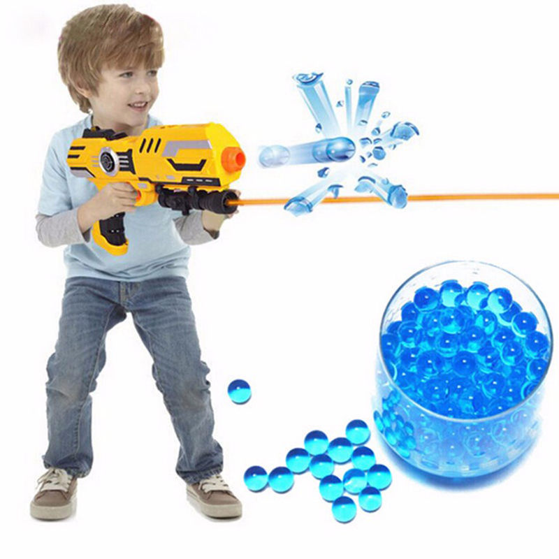 Colored orbeez soft crystal water paintball 10000pcs/bag gun bullet grow water beads grow balls water gun toy for childs gifts