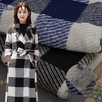 JaneYU New Style Woolen Cloth Double Colored Cashmere Wool Fabric Small Fragrant Wind Thickening Autumn And Winter Women's