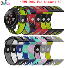 42mm sport Silicone strap watch bands for Samsung S2 watch Replacement smart watch strap wristband For huami amazfit 20mm band