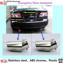 High Quality car decoration Dedicate stainless steel exhaust tip tail rear end pipe muffler panel for mazda 6 m6 Mazda6 2pcs