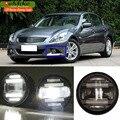 eeMrke For Infiniti G G25 G37 Q60 V36 Sedan Coupe 2010- 2in1 Multifunction LED Fog Lights DRL With Lens Daytime Running Lights