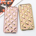KISSCASE Cute Lovely Heart Skins Cover Case For iPhone 6 6S Fundas Glitter Electroplate Soft TPU Capa Cover For iPhone 6 6S Plus