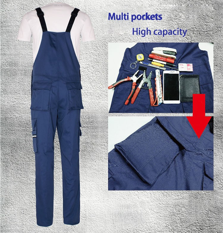 Men bib overall work coveralls fashion vintage locomotive repairman strap jumpsuit pants work uniform summer sleeveless overalls (8)