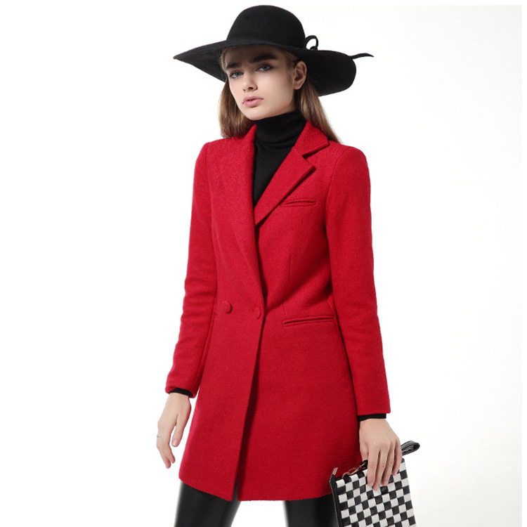 Compare Prices on Ladies Red Wool Coats- Online Shopping/Buy Low ...