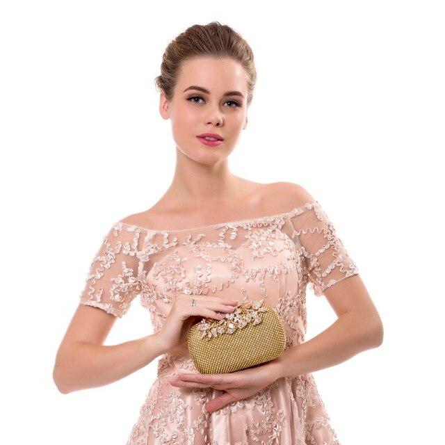 SEKUSA Flower Crystal Evening Bag Clutch Bags Clutches Wedding Purse Rhinestones Wedding Handbags Silver/Gold/Black Evening Bag 5