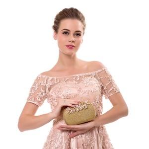 Image 5 - Sekusa花クリスタルイブニングバッグクラッチバッグクラッチ結婚式の財布ラインストーンウェディングハンドバッグシルバー/ゴールド/黒のイブニングバッグ