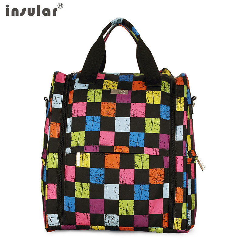 New arrival shipping Free Insular Baby Diaper Backpack Multifunctional Mommy Bag Backpack Changing Bags in Diaper Bags from Mother Kids