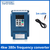 4kw 380v AC Frequency Inverter & Converter Three phase input 380v 3 phase output ac drives /frequency converter
