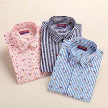 Dioufond Vintage Women Floral Blouse Long Sleeve Print Blouses Ladies Turn Down Collar Tops Casual Women Cotton Shirt Plus Size