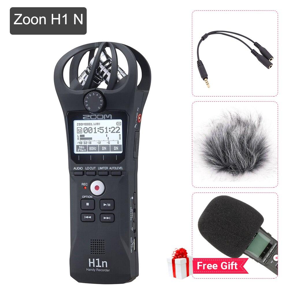 Портативный черный увеличить H1N микрофон удобный цифровой Регистраторы стерео Запись Ручной ручка для интервью DSLR обновленной зум H1