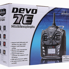 Walkera DEVO 7E 2.4G 7CH DSSS Radio Control Transmitter for RC Helicopter Airpla