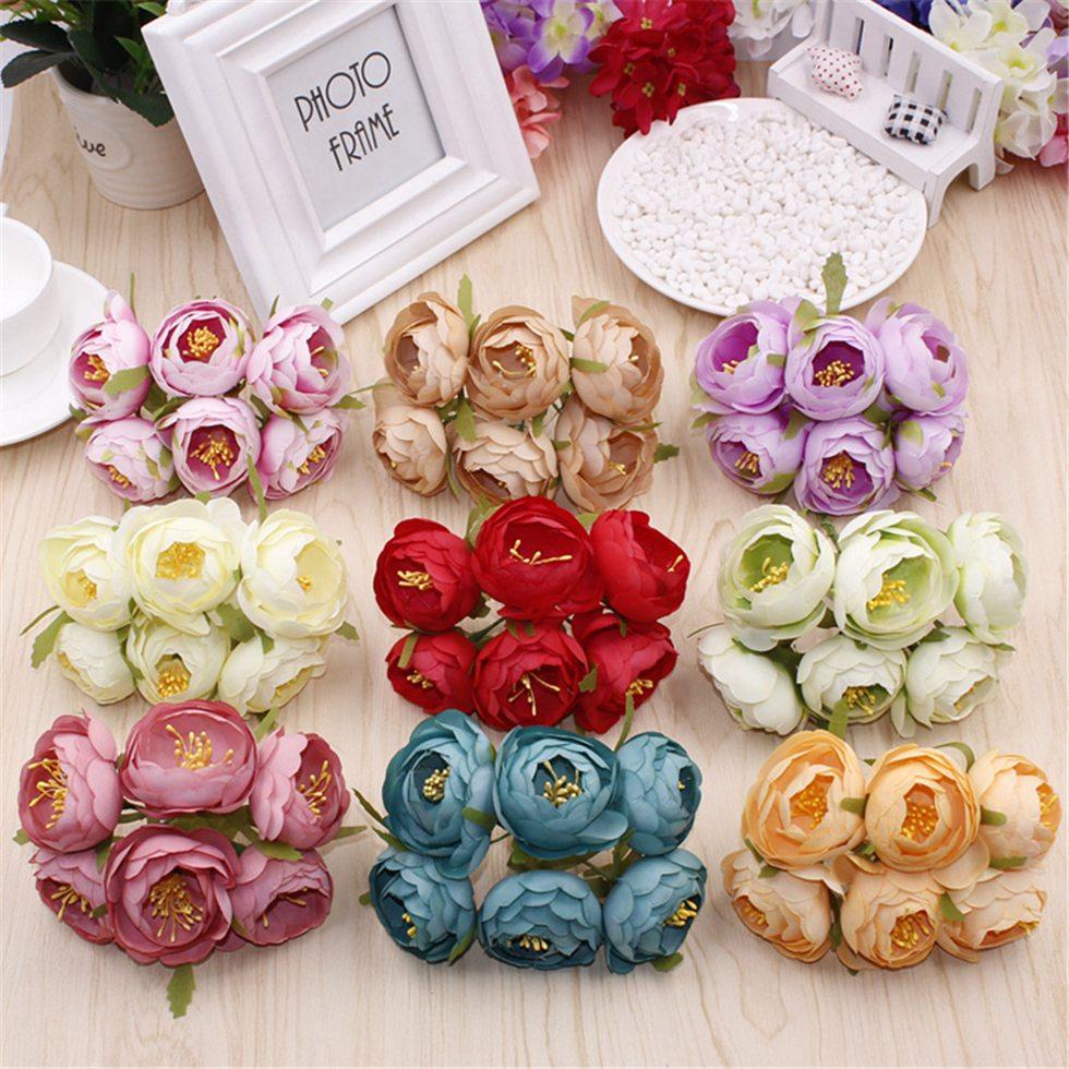 30 copë / shumë bagaji çaji mëndafshi Faux u rrit lule - Furnizimet e partisë