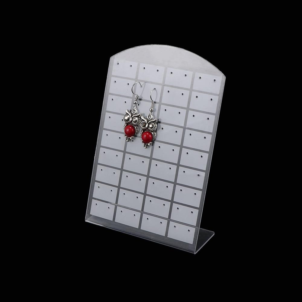 48 Hole Earrings Ear Studs Jewelry Display Rack Metal Stand Holder Showcase SU