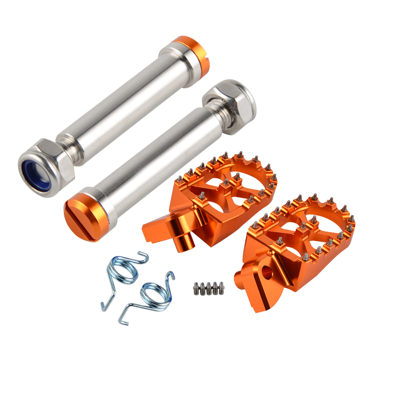 CNC Foot Pegs Footrests Footpeg Pins For KTM 200 250 300 350 390 400 450 500 501 530 XC-W XCF-W EXC EXC-F FREERIDE 250F/R 350