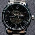 2016 Chegada Nova Forsining Ainda Inoxidável Dos Homens do Relógio de Pulso de Alta Qualidade Relógios Mens Presente W1824