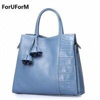 New Fashion Brand Genuine leather Women Handbag Europe and America Oil Wax Leather Shoulder Bag Casual Women Bag LI-1656