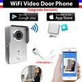 [Обновление Версии] беспроводная IP-КАМЕРА Wi-Fi Дверной Звонок Глазок Видео-Телефон Двери Камеры + крытый Дверной звонок Поддержка IOS Android