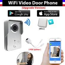 [Upgrade Version] Wireless IP Wifi Video Doorbell Intercom System Video Door Phone Camera + indoor Door bell Support IOS Android