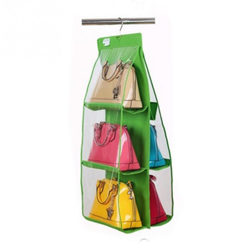 Wardrobe Closet Hanger Storage Organizer Closet Rack Handbag Organizer With  Pockets Christmas Gifts Bag For Purse Handbag In Storage Bags From Home U0026  Garden ...