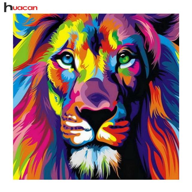 Diamond Embroidery Lion Wall Decor Full Square Diamond Painting ...