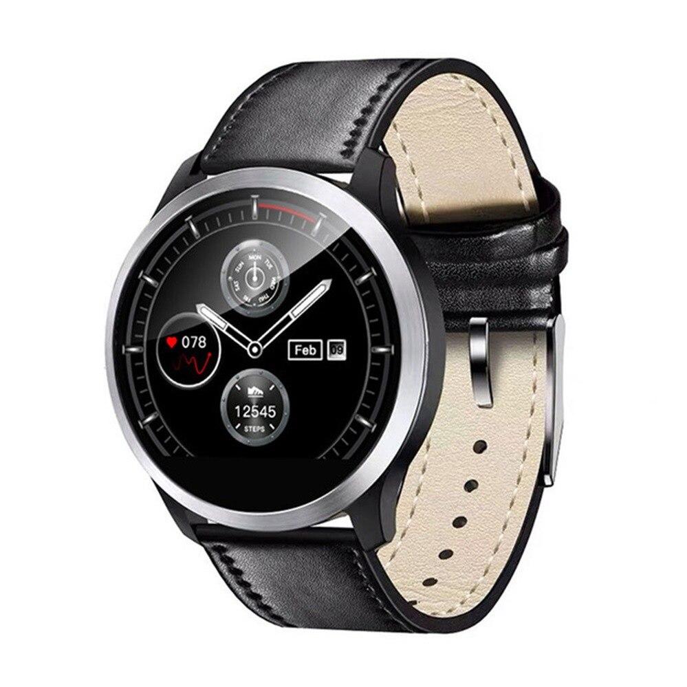 Reloj inteligente muñeca monitor de presión arterial ECG + PPG Frecuencia Cardíaca medidor de presión arterial digital rastreador de Fitness reloj inteligente resistente al agua-in Presión arterial from Belleza y salud    2