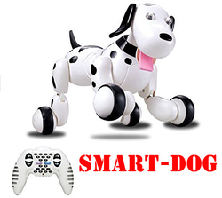 EBOYU 777-338 2.4G Wireless RC Dog Remote Control Smart Dog Electronic Pet Educational Children's Toy Dancing RC Robot Dog