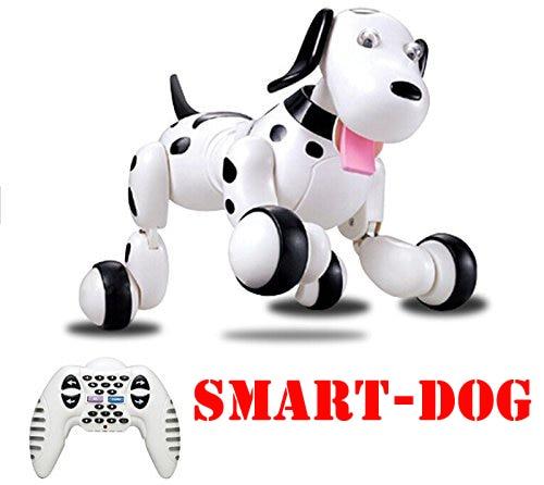 HappyCow 2,4 г Беспроводной RC собака дистанционного Управление Smart собак Электронный Pet Развивающие детские игрушки Танцы робот собака