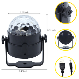 Image 2 - LED Disco Ball Party Lights 3W Sound Activated DJ Stage Lights for Birthday Decorations Home Karaoke Dance Club Party Lights